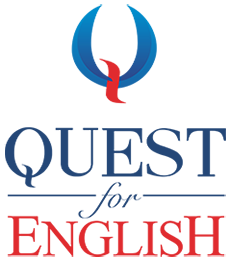 Quest for English - logo